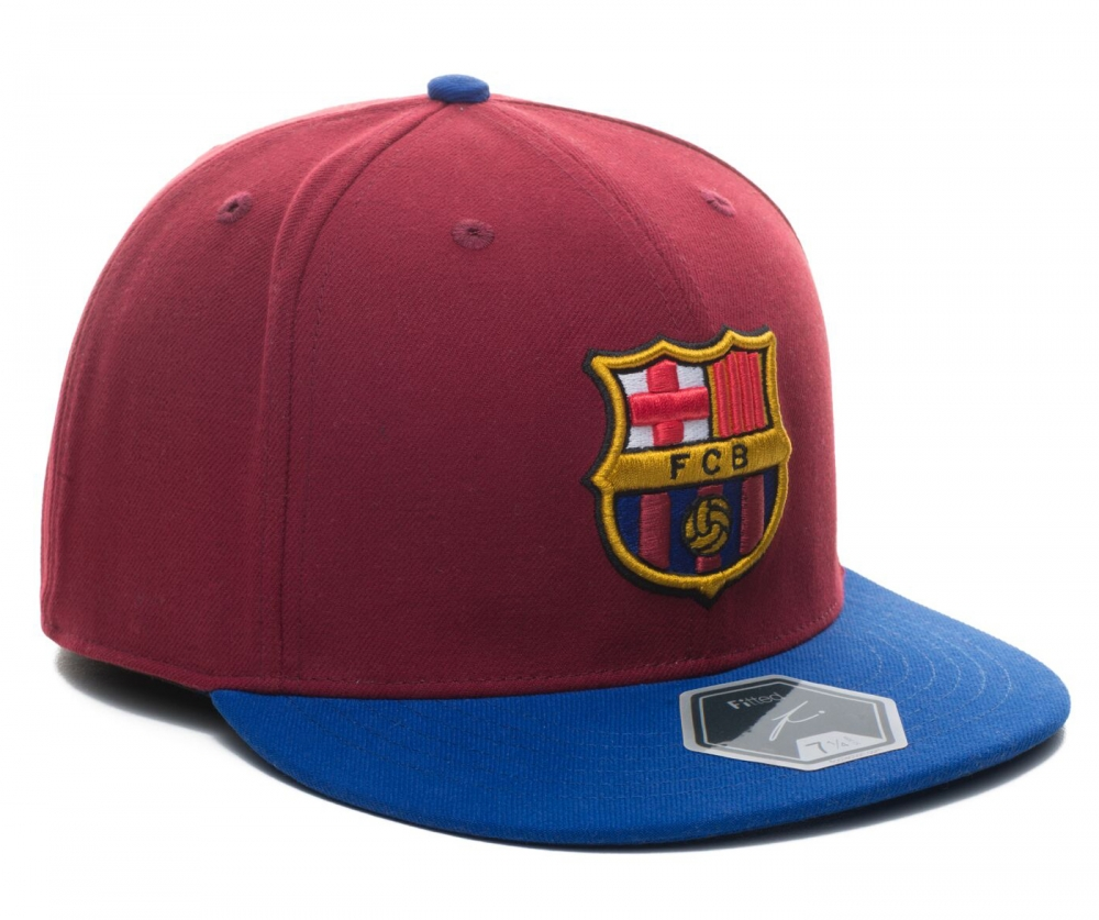 FC BARCELONA Fitted Team Hat by Fi Collection 3a7ff3586f4