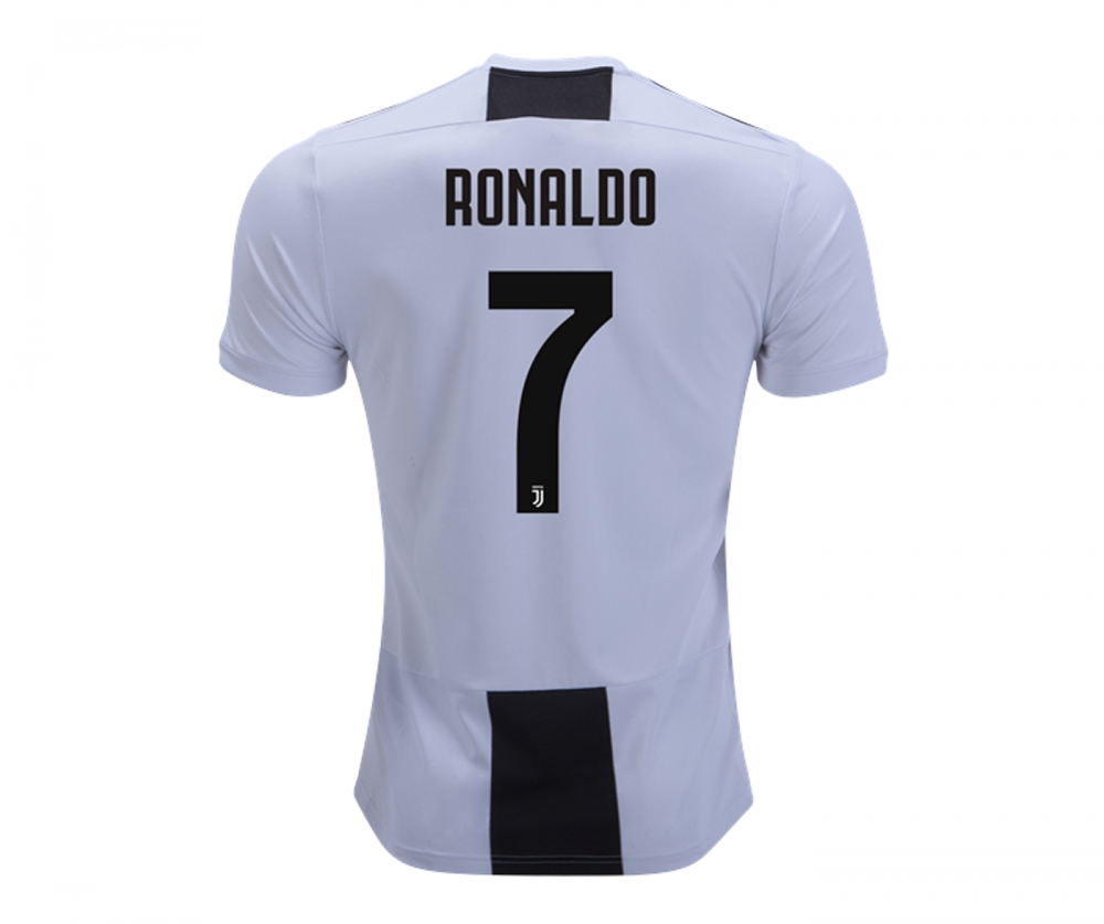 best sneakers ce4a0 48557 juventus 2018 19 ronaldo home replica player jersey white